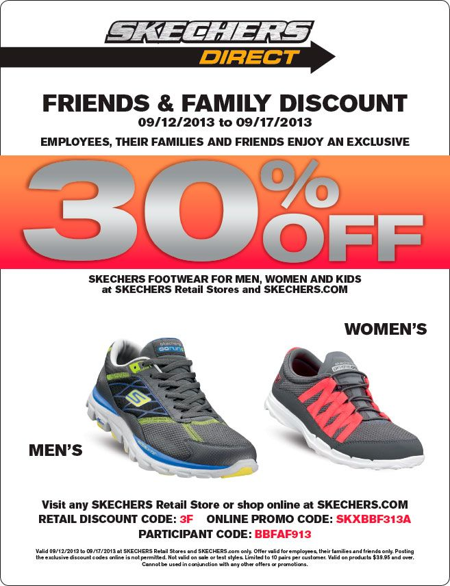 skechers: 30% off Printable Coupon http