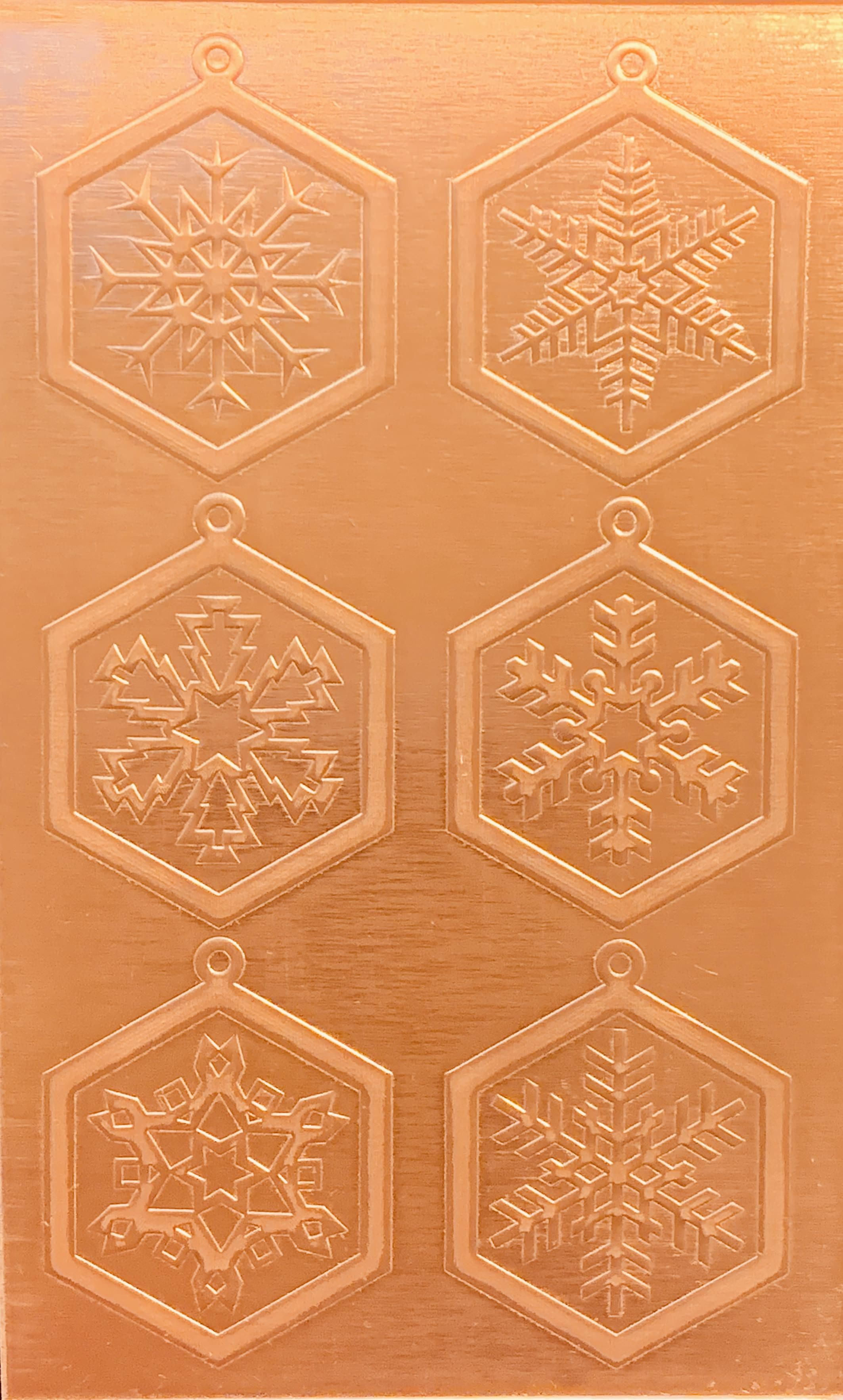 Classic Snowflake Earrings Snowflake Earrings Copper Copper Earrings