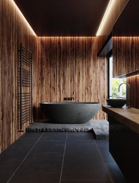 أفكار لديكورات حمامات فاخرة بتصميم خشبي هذه 20 فكرة لدش فاخر 2 Minimalism Interior Kitchen Cabinet Remodel Bathroom Design