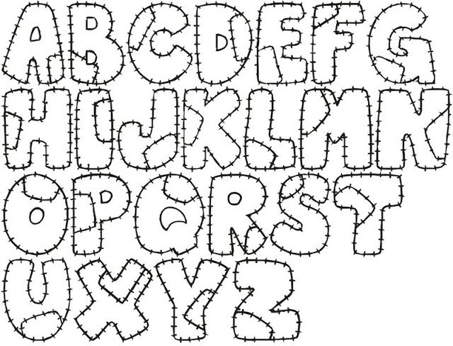 Moldes De Letras Para Imprimir Grandes Abecedario Imagui