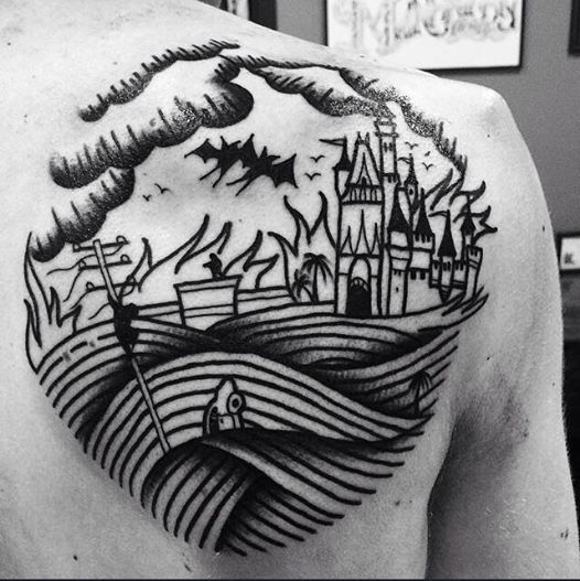 Buon giorno cari Fans!! Questo tatuaggio e' proprio la fine del mondo! Tattoo artist : il Corra  http://www.subliminaltattoo.it  #lafinedelmondotattoo #subliminaltattoofamily #tattooart #tattooartists #tattoos #tatuaggi
