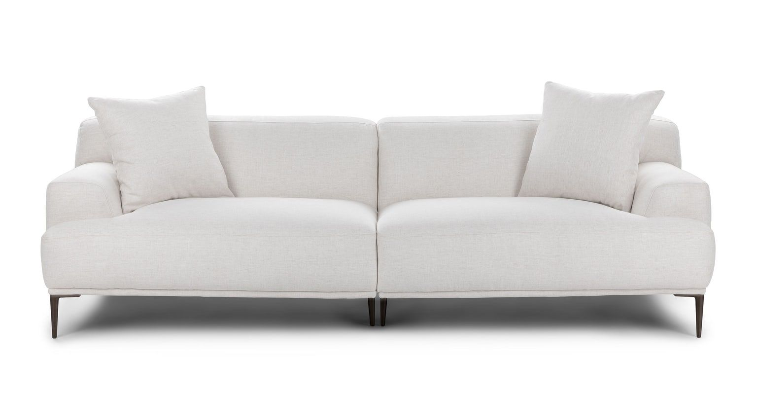 Abisko Quartz White Sofa In 2020 Contemporary Decor Living Room Modern Sofa Couch Mid Century Modern Sofa Couch