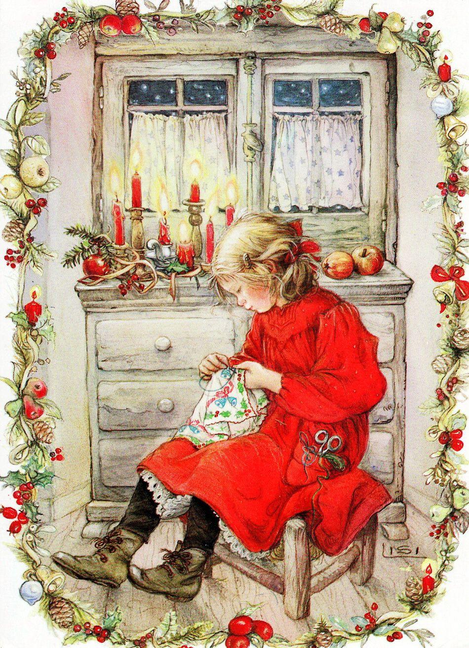 Хорошего, рождество открытки художника
