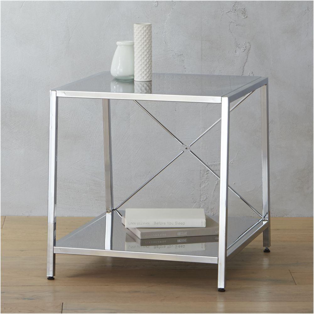 harvey chrome nightstand - CB11 - $1119 - domino.com  Furniture