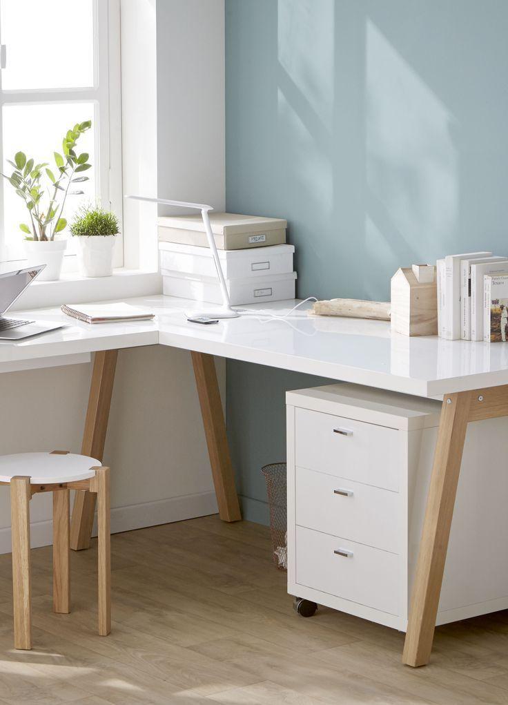 oslo bureau blanc d angle avec