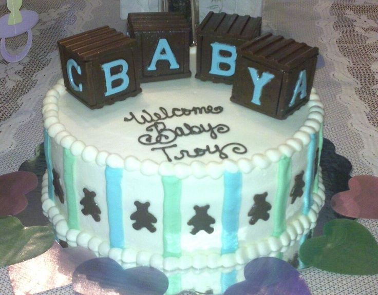 Elegant Pinterest Baby Shower Ideas Bear Theme | Boyu0027s Teddy Bear Theme Baby Shower  Cake. Baby