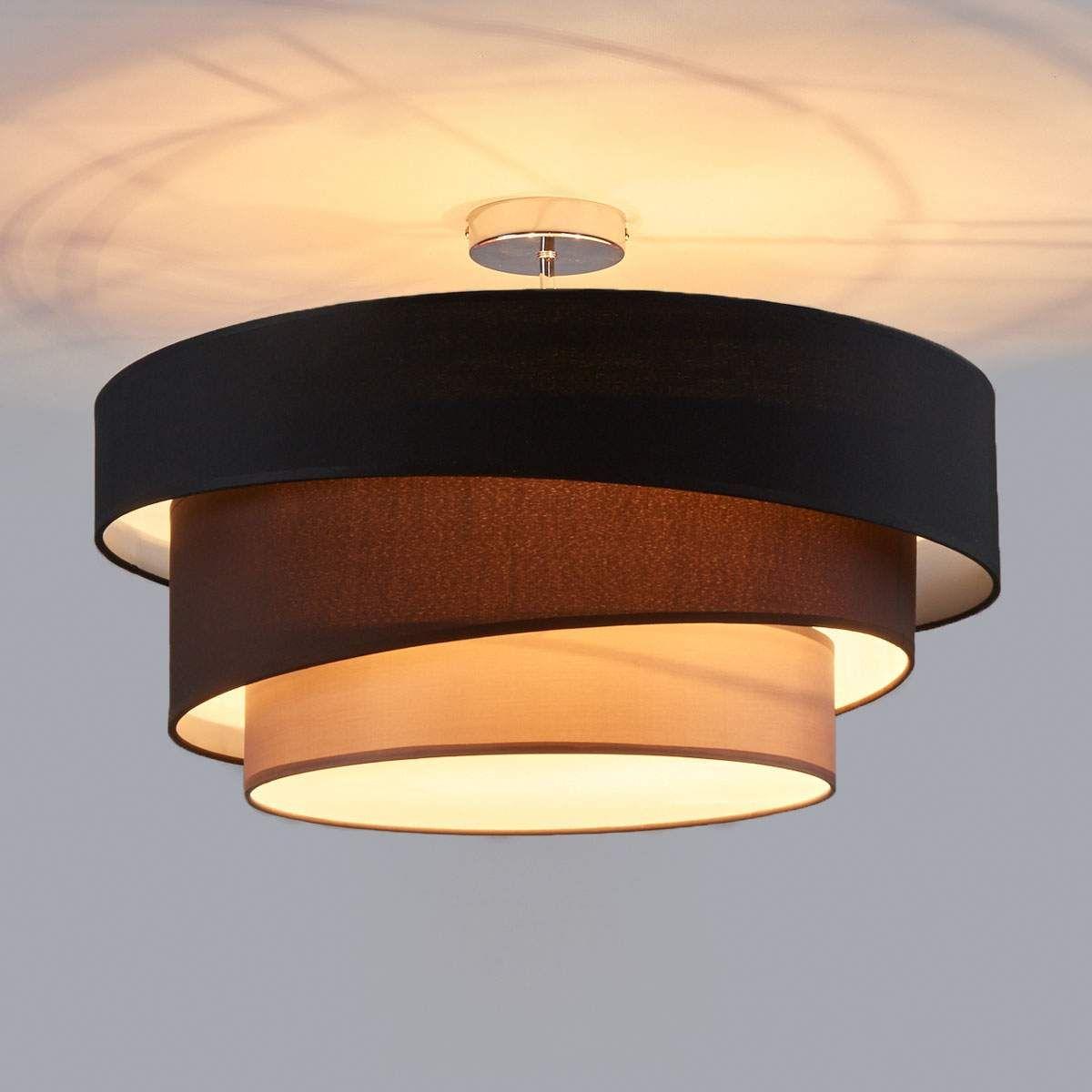 Deckenlampe Melia, schwarz und braun in 9  Deckenlampe, Lampe