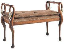 Stupendous Baker Swan Neck Bench Gorgeous For Entryway Or Study At Creativecarmelina Interior Chair Design Creativecarmelinacom