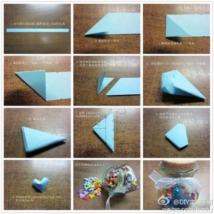 Mini heart shape someday i wanna make this and give it to heart origami diy diy ideas diy crafts do it yourself crafty origami diy pictures heart origami solutioingenieria