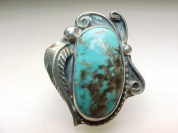 vintage indian sterling turquoise ring