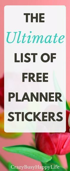 This is a super long list of links to free planner sticker printables. You can use these stickers in any planner or agenda, A5, Filofax, Erin Condren, Happy Planner, Kate Spade, etc. Stay organized and cute! Click through to use the list or pin now and read later.