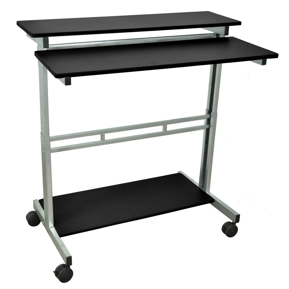 Luxor black adjustable stand up desk in products pinterest