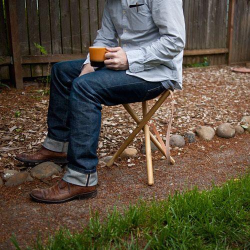 diy project: tripod camping stool