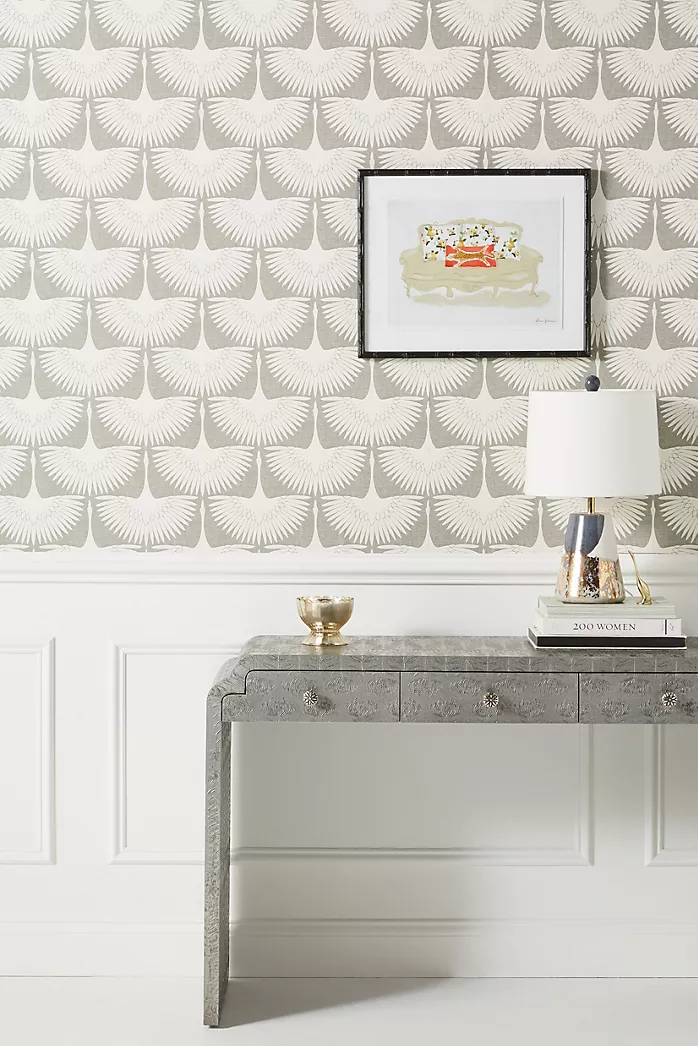 Removable Temporary Wallpaper Anthropologie In 2020 Chalkboard Wall Decor Flock Wallpaper Removable Wallpaper