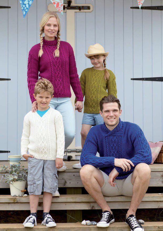 Family Sweaters in Hayfield Bonus Aran (9691) - free pattern ...