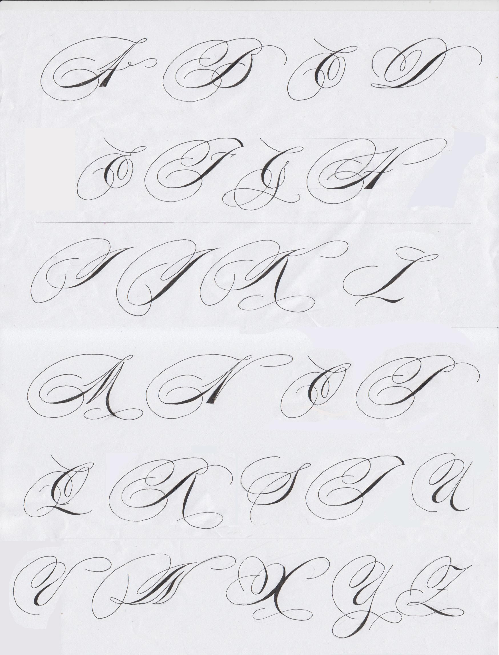 Fancy Pants Calligraphy Alphabet Majuscules