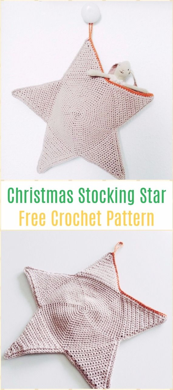 Crochet Star Plush Toys Free Patterns | Ganchillo, Adornos navidad y ...