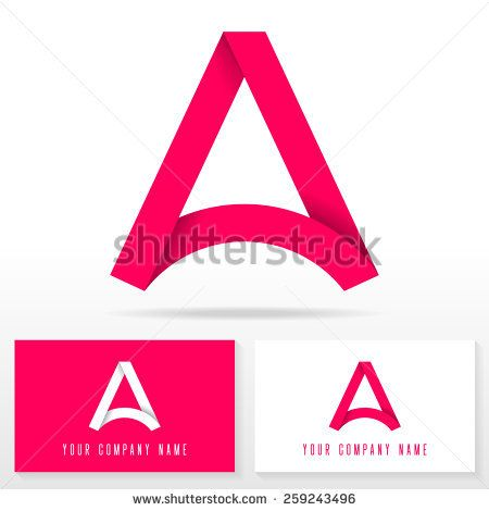 Letter A Logo Icon Design Template Elements  Vector Sign