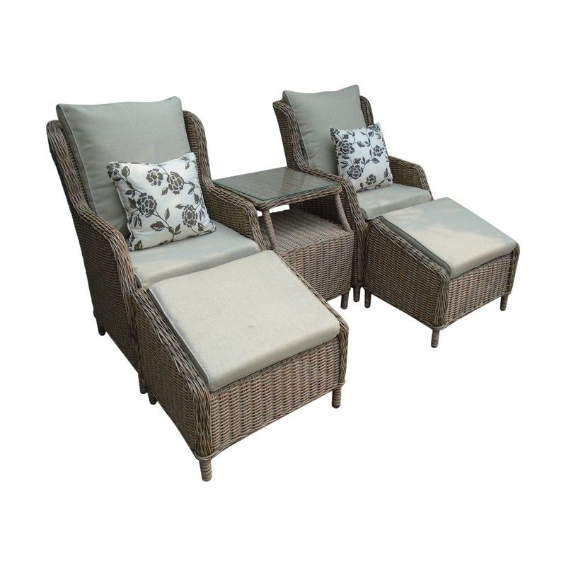 Saigon Heritage Highback Duo Set In Natural. Stylish And Comfortable Weave Outdoor  Furniture For Two