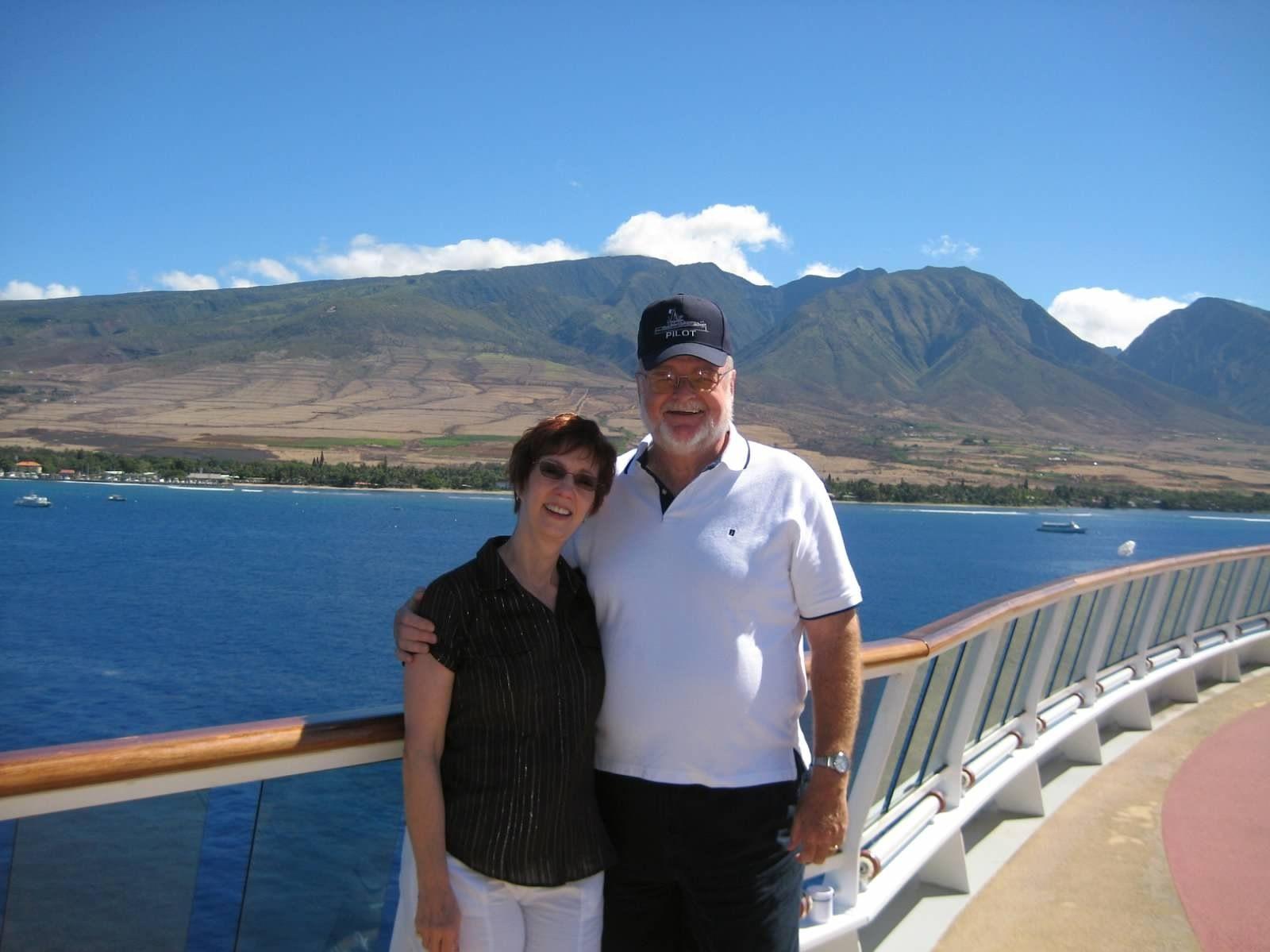 Off an Hawaiian island. Another fantastic cruise.