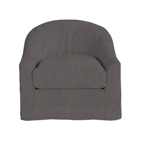 Lenoir Swivel Chair Slipcover   Maybe This Can Work As A Slip Cover For Our  Chairs