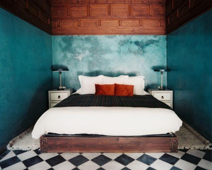 Ideen zum Schlafzimmer streichen mit der Schwammtechnik-einfach ...