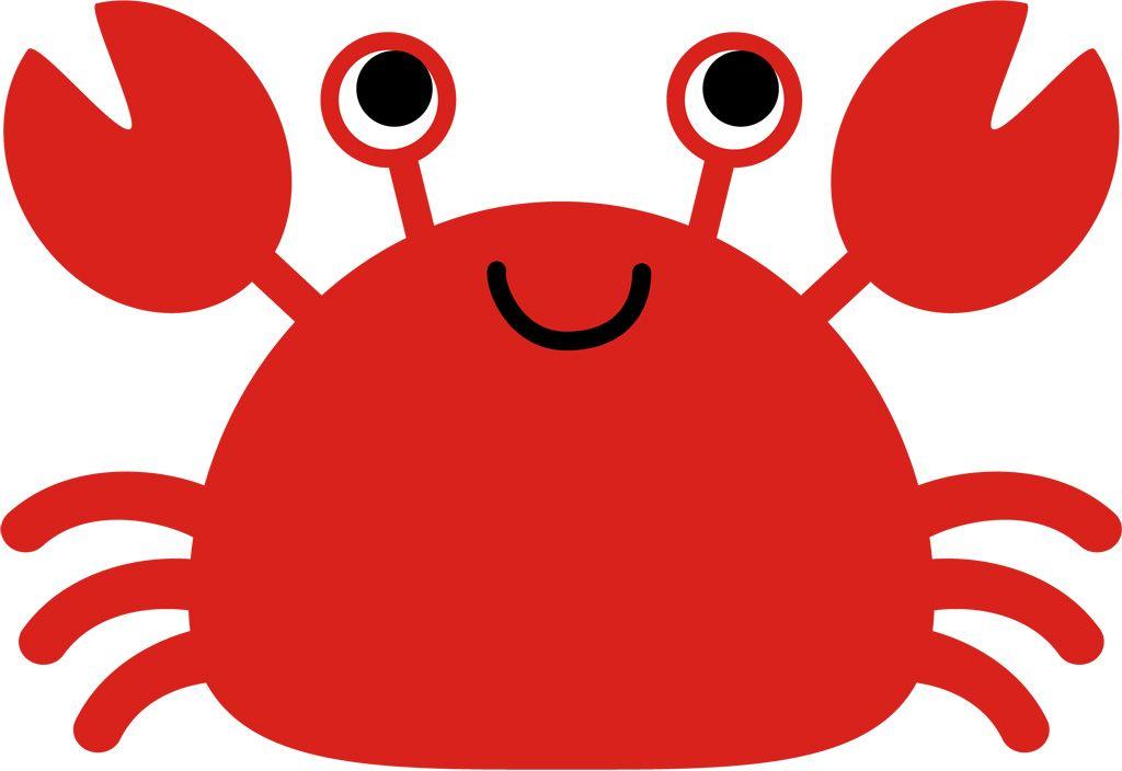 フリーイラスト ベクトルデータ Eps 動物 甲殻類 蟹カニ 赤色