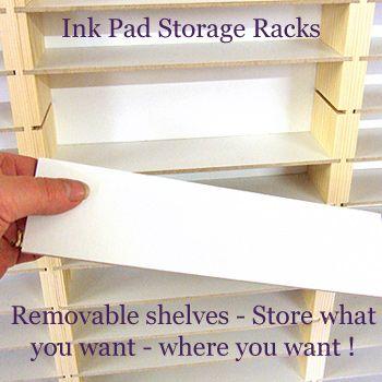 Triple Ink Pad Rack  sc 1 st  Pinterest & Triple Ink Pad Rack | craft ideas | Pinterest | Ink pads Storage ...