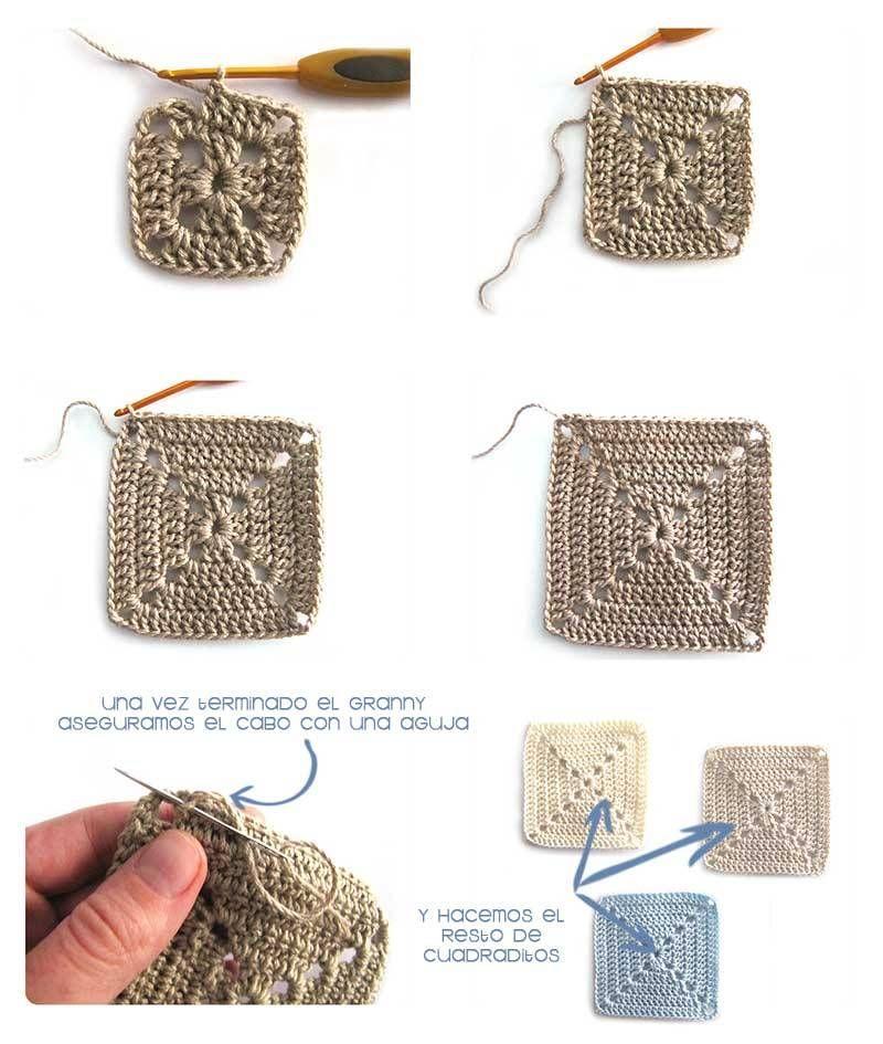 Cómo hacer un cojín de granny squares sólidos DIY   Mantas de ...