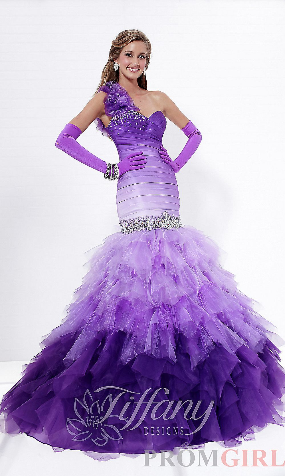 Ombre Ball Gown, Tiffany Prom Dresses, Gowns for Prom- PromGirl ...