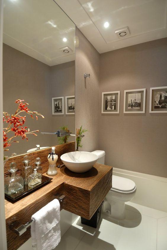 Confira como decorar banheiros pequenos de maneira linda e criativa, capaz de -> Banheiro Pequeno Lindo