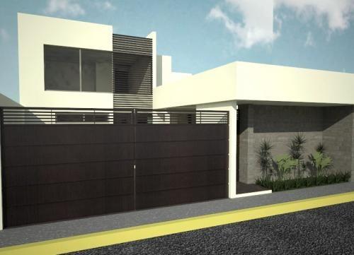 Pre casa minimalista con dise o unico moderna y funcional for Una casa di tronchi con garage