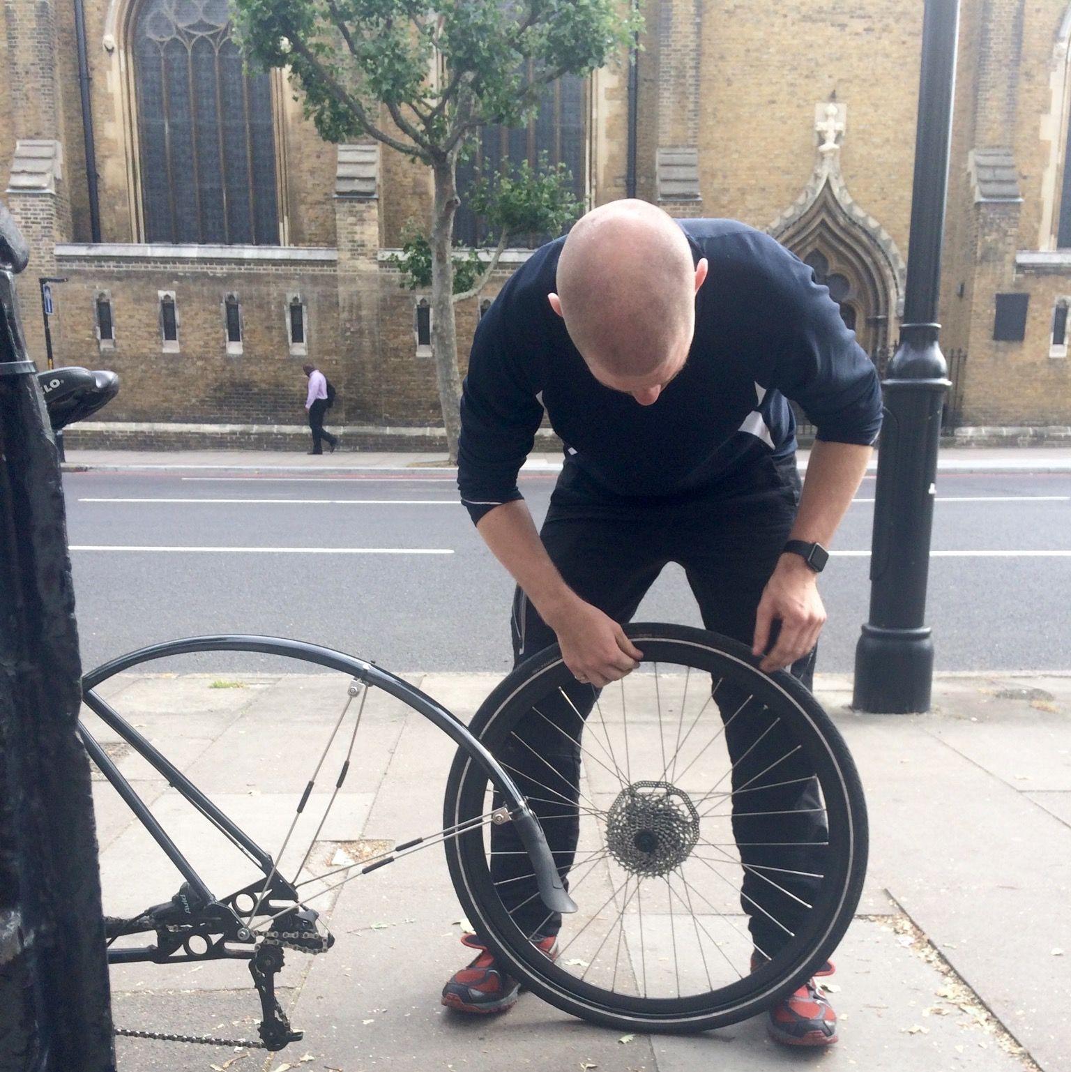 David makes a repair for a Kerbi App Customer in London, UK.