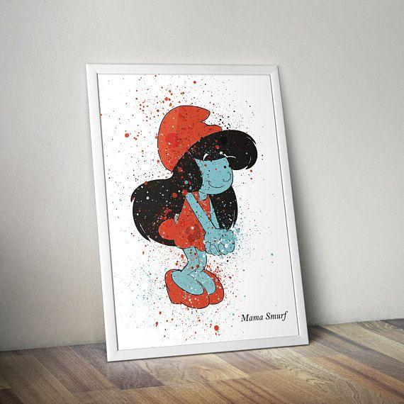 Smurfs Inspired Poster Print