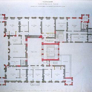Floor Plan Of Highclere Castle Hampshire South East England Uk