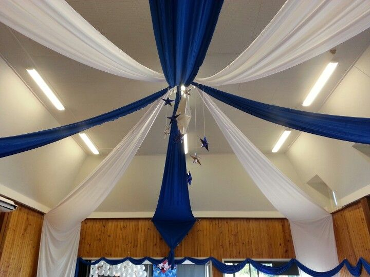 Hall ceiling draping