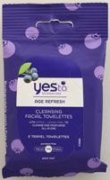 Yes To Inc Yes to Blueberries Brightening Facial Towelettes @yestocarrots