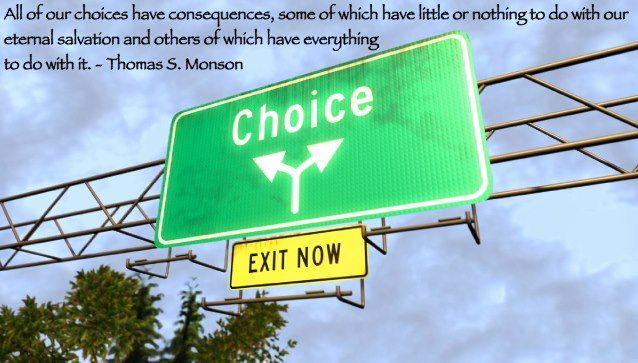 わたし達の選びには結果がついてきます。永遠の救いにあまり関係のない選びもあれば、大きく関与するものもあるのです。