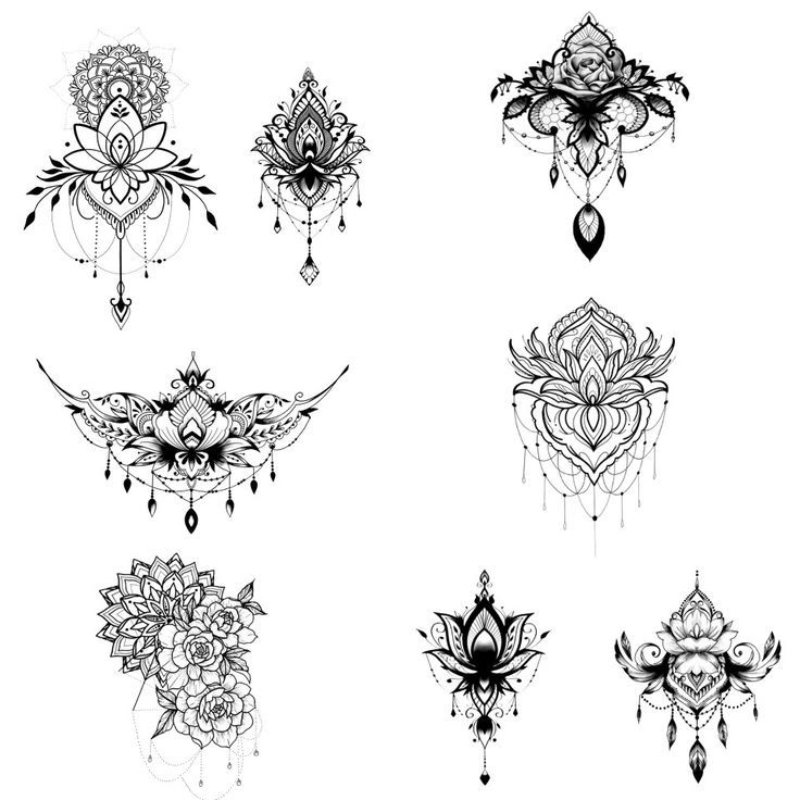 Sternum Tatowierung Tattoos Mandala Tattoo Neck Tattoo