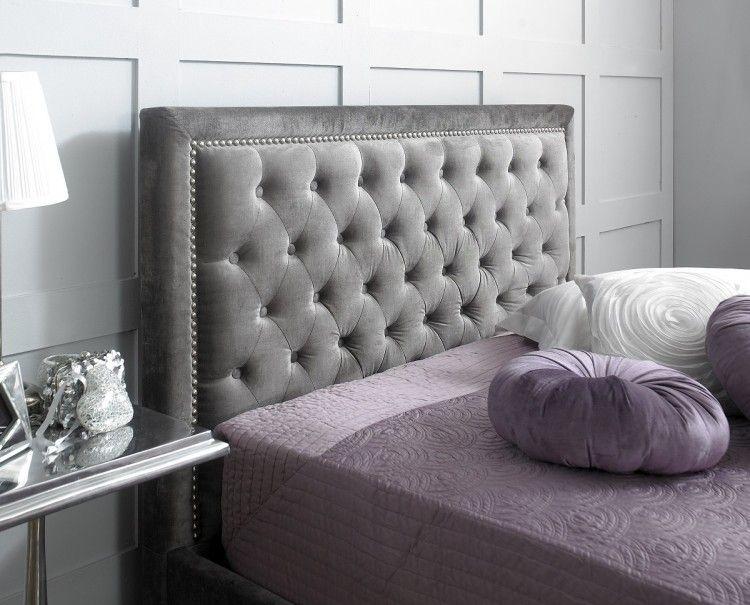Limelight Rhea 6ft Super Kingsize Plush Silver Velvet Fabric Bed