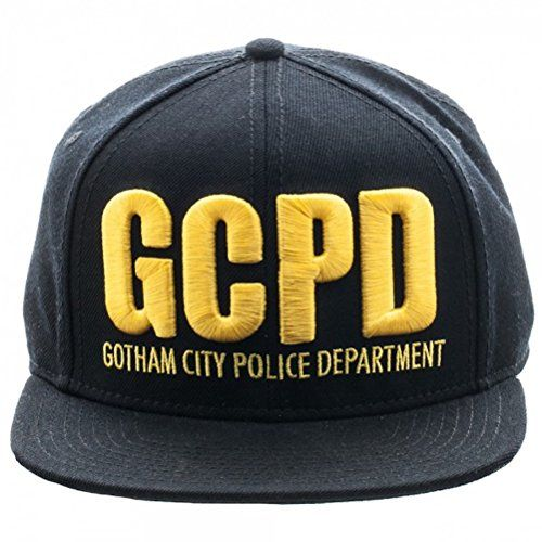 762791cb902 Gotham Batman GCPD Embroidered Logo Flat Brim Baseball Cap Snapback Hat    niftywarehouse.com
