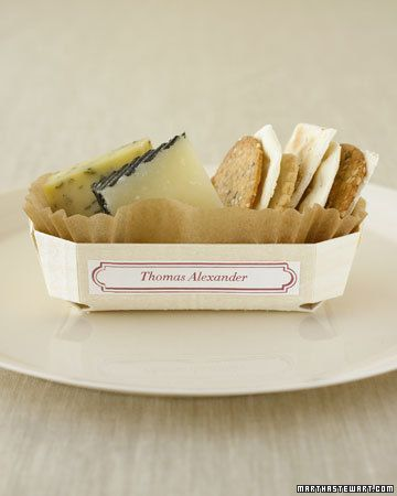 These individual cheese baskets double as place cards