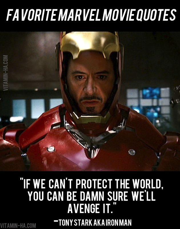 Favorite Marvel Movie Superhero Quotes Robert Downey Jr