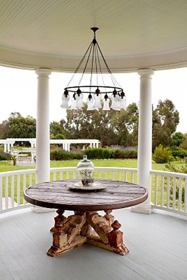 Outdoor chandeliers for gazebos pinterest outdoor chandelier outdoor chandelier aloadofball Images