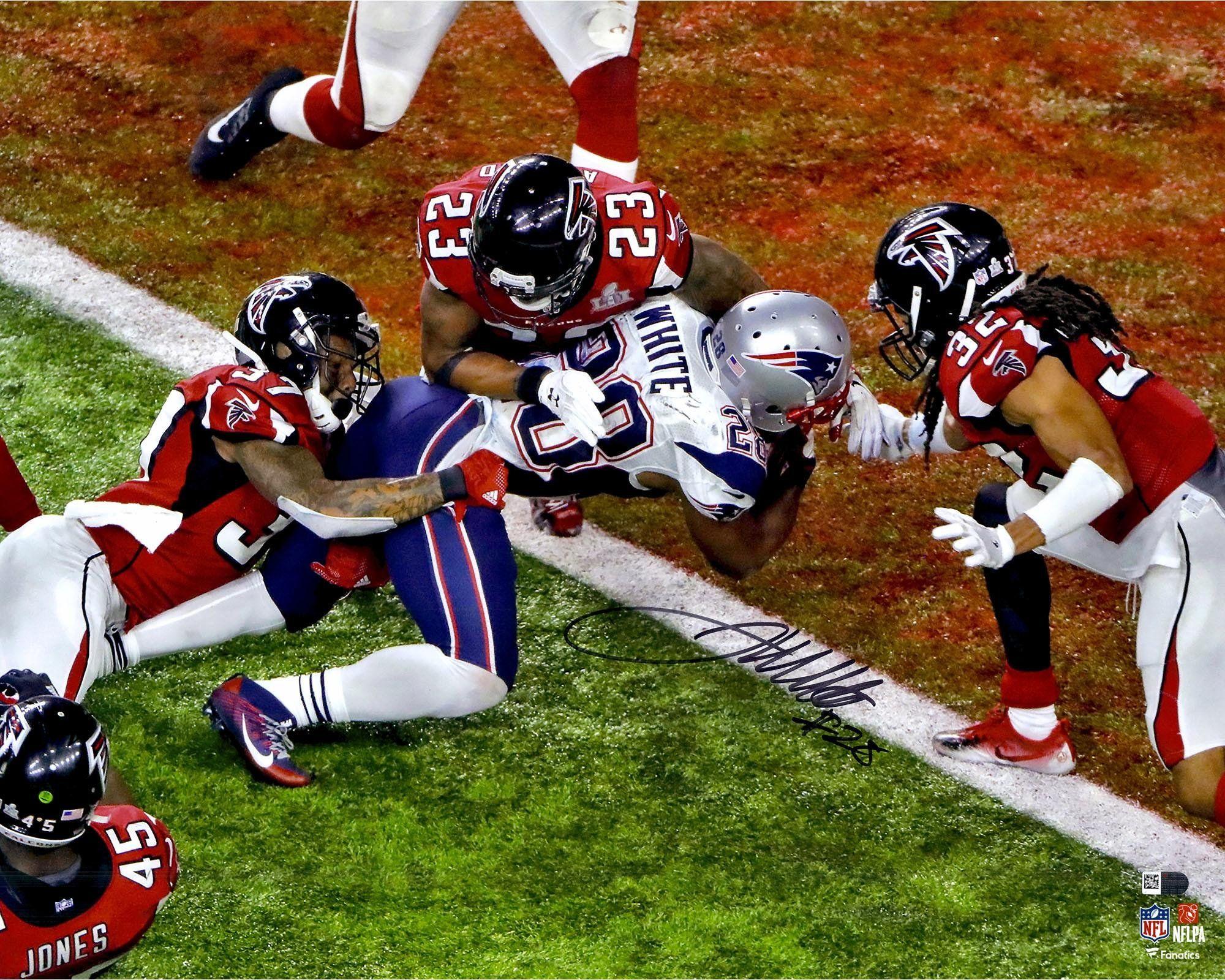 James White New England Patriots Autographed 16 X 20 Super Bowl Li Champions Gamewinning Touchdown Photograph F James White Super Bowl Li New England Patriots