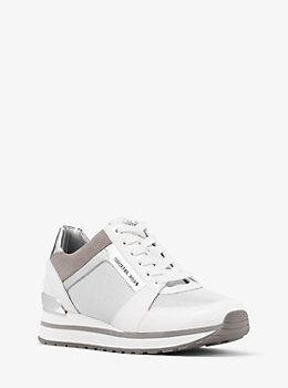 Billie Mesh and Leather Sneaker by Michael Kors