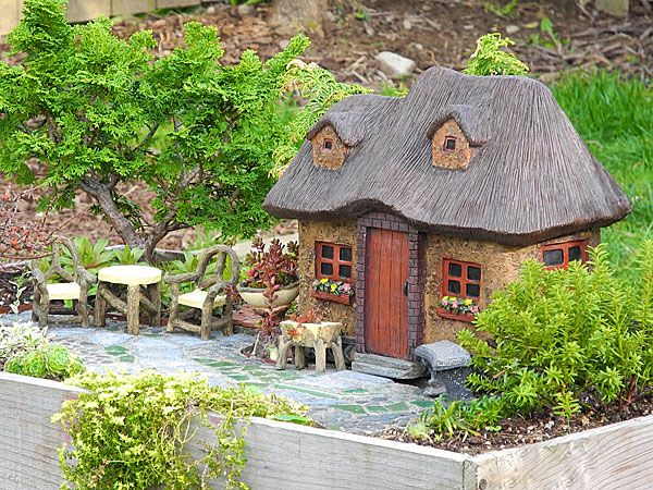 Resin Thatched Fairy Cottage And Fairy Garden Accessories Plowhearth.com |  Garden Art | Pinterest | Resin, Fairy And Gardens