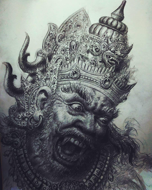"ketutmayun di Instagram ""Sketsa Kumbakarna bali_kreatif"