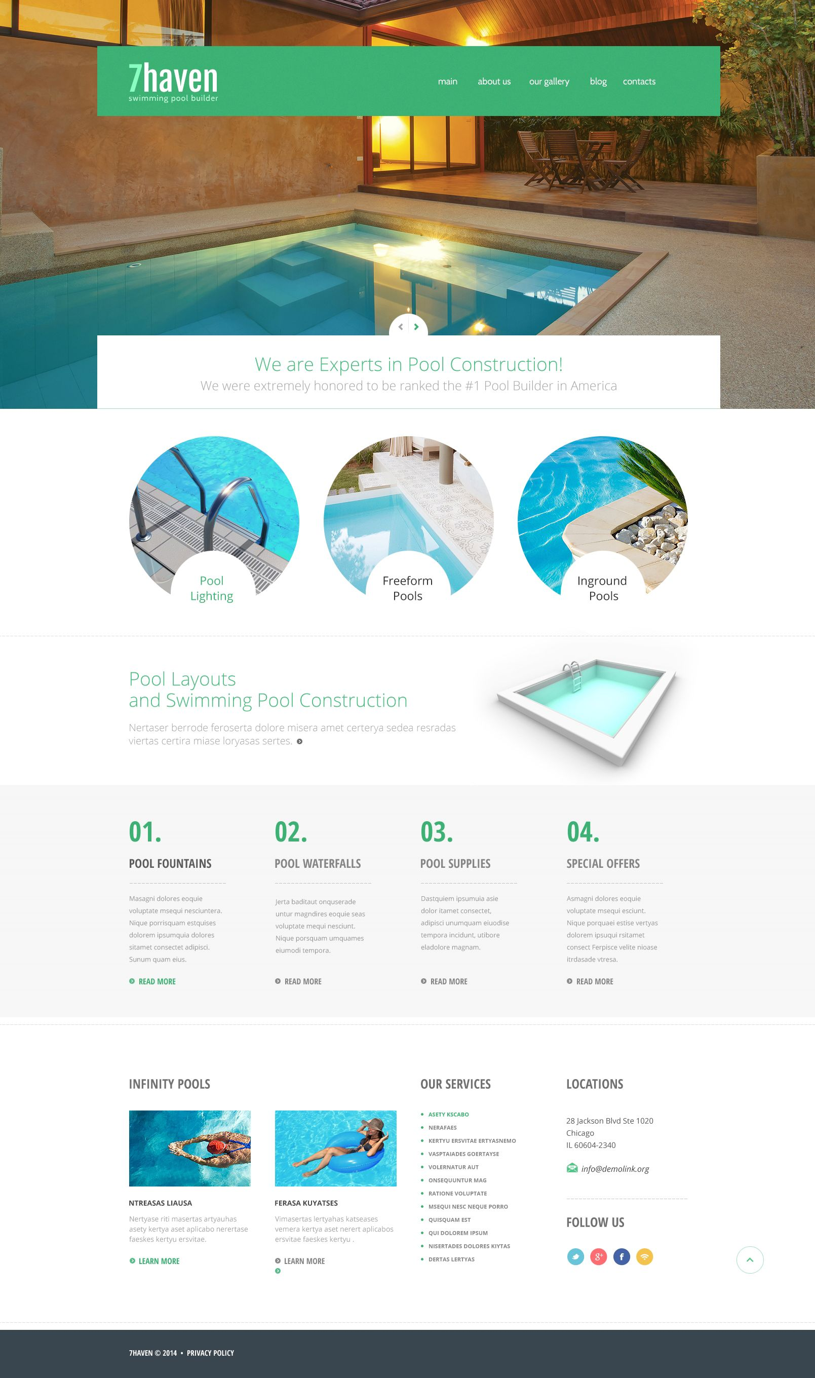 website design template 48436 services estimate cleaner dirty