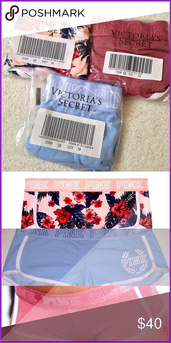 VS PINK boyshort lot Sz M 3 VS PINK boy shorts New in packaging Sz M Includes soft begonia pale blue and euphoria Victoria s Secret Intimates New VS PINK boyshort lot Sz...